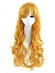 Cosplay Wigs Blonde Color Synthetic Cheap Wave Wigs Fashion Wigs