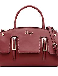 Stiya Fashion Two Ways Design Genuine Leather Handiness Lady Shoulder Bag Vintage Tote