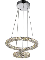 Minimalist LED Crystal Pendant Light Ceiling Chandeliers Lamps with 27W D2040CM CE FCC ROHS