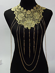 Vintage Punk Sexy Women Tassel Chain  Rhinestone Body Chain Jewelry