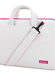 pofoko® 13inch imperméable à l'eau d'une épaule sac d'ordinateur portable / caisse couleur solide rose / bleu