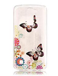 Для Кейс для LG IMD / С узором Кейс для Задняя крышка Кейс для Бабочка Мягкий TPU LG LG K8 / LG K7 / LG K4 / LG G5