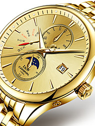 Masculino Relógio Esportivo / Relógio de Moda / relógio mecânico Automático - da corda automáticamente Noctilucente / Fase da luaAço