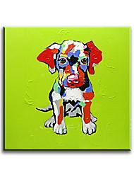 Peint à la main Animal Peintures à l'huile,Style / Modern / Classique / Traditionnel / Réalisme / Méditerranéen / Pastoral / Style