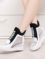 Damen-Loafers & Slip-Ons-Lässig-Leder-KeilabsatzWeiß Rot
