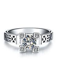 Ringe Damen Strass Silber / Platiert Silber / Platiert 4.0 / 5 / 6 / 7 / 8 / 8½ / 9 / 9½ Silber
