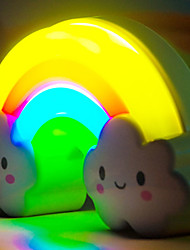 1P Rainbow Night Light Decorative Furnishing Articles Gifts On   Lights Led Lamp Color Randomization