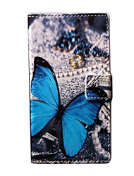 Pour Coque Nokia Portefeuille Porte Carte Avec Support Coque Coque Intégrale Coque Papillon Dur Cuir PU pour Nokia Nokia Lumia 730