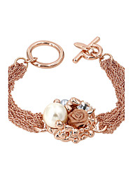 Bracelet/Chain Bracelets Alloy / Imitation Pearl Flower Fashionable Party / Daily / Casual Jewelry Gift Gold,1pc