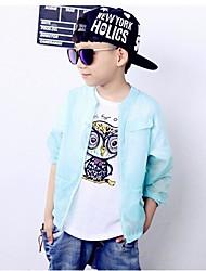 Casual/Dagelijks-Effen-Polyester-Zomer-Boy's-Kostuum & Blazer-Blauw / Wit