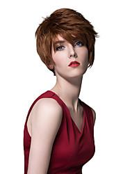 célébrité noble coiffure auburn cheveux nouvelle perruque courte humaine