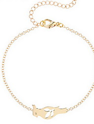 Kimiing Gold/Silver Parrot Animal Shape Chain Bracelet Jewelry