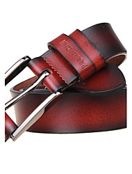 Men's Casual Cowhide Pin Belts Simple Fashion Business Leather Belt