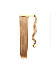 Blond Synthetik Pferdeschwanz Gerade Tape In Pferdeschwanz 40-65CM Gramm Medium (90g-120g) Menge