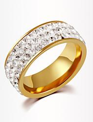 Anelli Unisex Strass Lega Lega 6 / 7 / 8 / 9 / 10 Oro / Argentato I colori delle decorazioni sono come da immagine