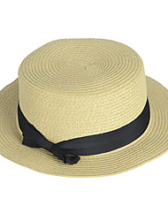England Spring And Summer Female Beach Sun Flat Top Hat