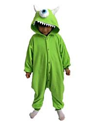 Kigurumi Déguisements d'animaux Halloween / Noël / Carnaval / Le Jour des enfants / Nouvel an Vert Couleur Pleine Polaire