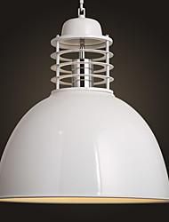 Metal Ceiling Light, Living room Bedroom Dining Room  Kitchen Bar Cafe Hallway Balcony Pendant Lamp, White