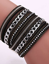 Fashion Korea Flannelette Diamond Bracelet Alloy Chain Bracelet Magnetic Clasp #YMG1087
