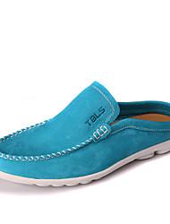 TBLS® Hombre Cuero Pantuflas Azul / Marrón / Morado / Azul Marino-6806-1