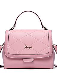 Stiya Two Ways Design Genuine Leather Lady Business Fashion Vintage Tote and Shoulder  Bag