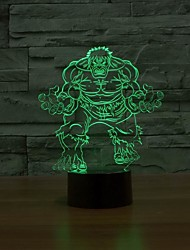 Amazing 3D Illusion LED Table Lamp Night Light  Man Shape Color-Changing Night Light