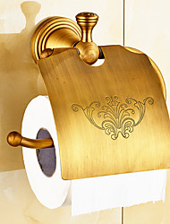 Toilet Paper Holder / Brushed / Wall Mounted /20*10*20 /Brass /Antique /20 10 0.365