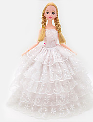 Vêtements de Poupées Loisirs Jupe Plastique Blanc Pour Filles 5 à 7 ans