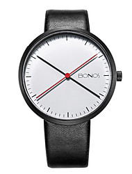 Unisex Fashion Watch Casual Watch Quartz Japanese Quartz Leather Band Black