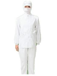 weißen Overalls Anzug Lebensmittel Produktionsanlagen qualitativ hochwertige Lebensmittel weiß saubere Kleidung dienen