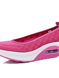 Черный Фиолетовый Белый-Женский Для девочек-Для прогулок Повседневный Для занятий спортом-Ткань-На танкетке Микропоры-Удобная обувь Обувь