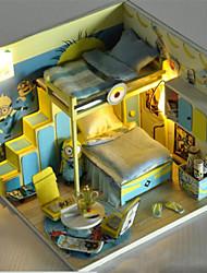 DIY handgemachte Kabine Haus zusammengebautes Modell Spielzeug Gebäude Villa Geburtstagsgeschenk