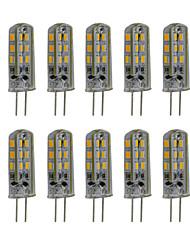 3W G4 Двухштырьковые LED лампы T 24 SMD 3014 300 lm Тёплый белый / Холодный белый Декоративная DC 12 V 10 шт.