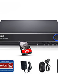 sannce® 4ch 720p многорежимный вход ecloud HDMI 1080p / VGA / BNC система видеонаблюдения Видеорегистратор встроенный в 1tb НЖМД