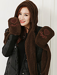 Unisex Faux Fur Scarf,Cute Rectangle