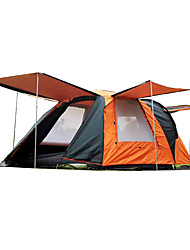 CAMEL 3-4 persons Tent Double Camping Tent Automatic Tent Keep Warm Rain-Proof Anti-Insect 2000-3000 mm for Hiking Camping-200*200*135 CM