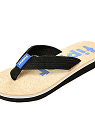 Men's Slippers & Flip-Flops Summer Slippers Canvas Casual Flat Heel Others Blue Brown