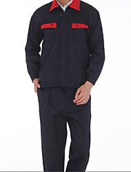 ropa de protección de lona collar rojo traje de protección laboral modelo completo