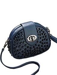 Women-Casual-PU-Shoulder Bag-Blue / Black