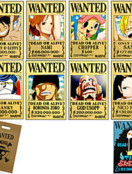One Piece-Monkey D. Luffy-Jaune-Papier