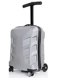 Unisex PVC Outdoor Luggage Green / Silver / Black