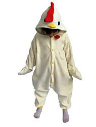 Kigurumi Déguisements d'animaux Halloween / Noël / Carnaval / Le Jour des enfants / Nouvel an Blanc Couleur Pleine Polaire