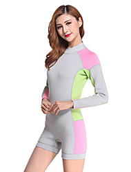 Others Women's Diving Suits Diving Suit Compression Wetsuits 2.5 to 2.9 mm Gray S / M / L / XL / XXL Diving