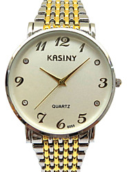 Men's Fashion Watch Casual Watch Quartz Stainless Steel Band Silver Gold
