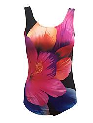 Une-pièce Aux femmes Fleur Licou Polyester