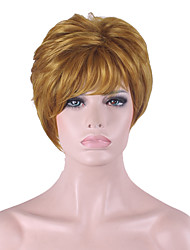 Best-selling Europe And The United States With Golden Brown Natural Short Wig 4 Inch