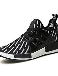 Черный / Синий / Белый-Мужская обувь-Для прогулок / На каждый день-Тюль / Ткань-На плокой подошве