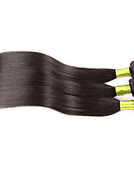 Indian Remy Virgin Hair Weft Hair Silk Straight 3 Bundles Indian Virgin Hair Hair Weaving
