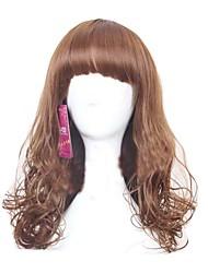 perruques portant quotidienne des femmes américaines et l'europe bruns bouclés perruques ondulées top qualité perruques de cheveux