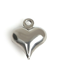 Beadia (20Pcs) 9x11mm Heart Shape Stainless Steel Charm Pendant For Necklace & Bracelet Jewelry Making